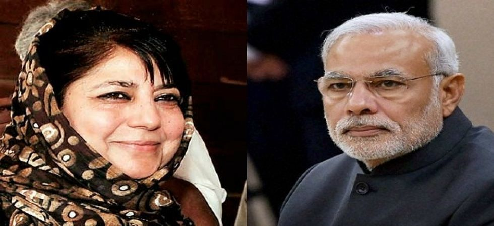 Mehbooba Mufti congratulated PM Modi for a land slide victory