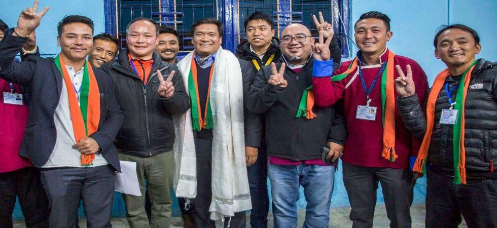 Arunachal Pradesh Chief Minister Pema Khandu reacts after winning the Assembly elections (Photo Source: PTI)