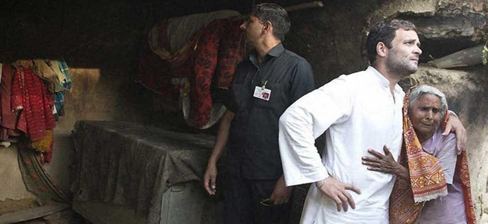 Congress president Rahul Gandhi during a visit to Amethi. (PTI Photo)