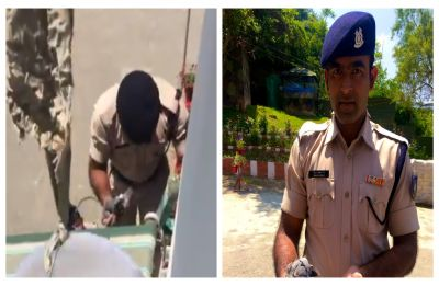 A hero not in cape but uniform, CRPF jawan rescues injured bird, Twitter lauds his act of kindness | WATCH