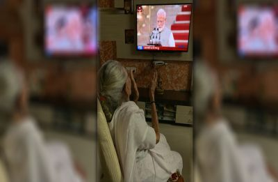 As PM Narendra Modi takes oath, mother Heeraben Modi watches swearing-in ceremony
