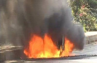 Car set ablaze, dog slaughtered in front of BJP leader's residence