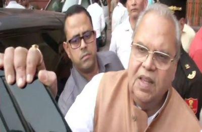 Governor Satya Pal Malik briefs Union Home Minister Amit Shah on Kashmir situation