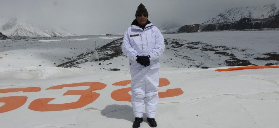India and Pakistan started deploying troops at the strategically key glacier in 1984. (Rajnath SIngh/Twitter)