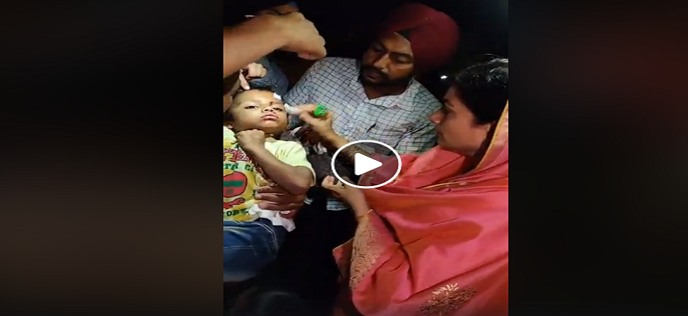 After giving first aid, she shifted the family to a hospital for further treatment.