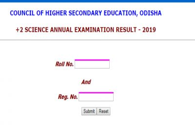 CHSE Odisha Plus Two Science Result 2019 declared on orissaresults.nic.in, pass percentage 72.33%