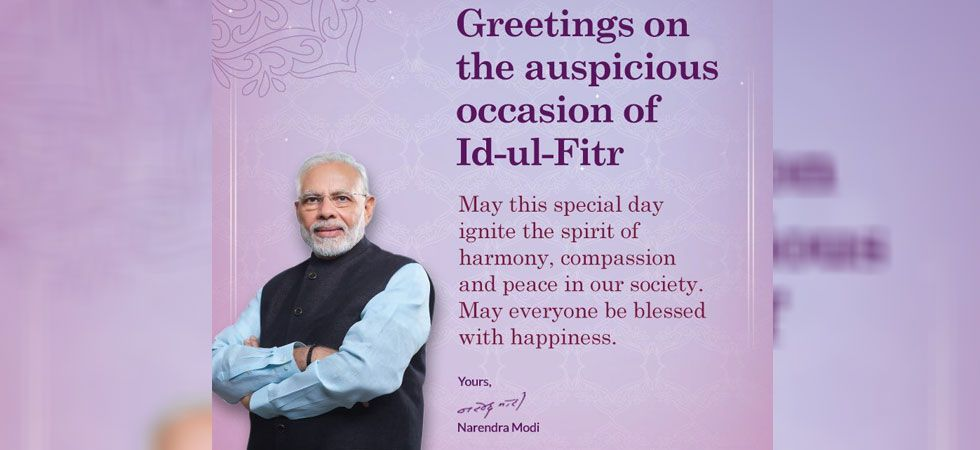 PM Modi greeted the nation on the occasion of Eid-ul-Iftar  (Image Credit: Twitter)