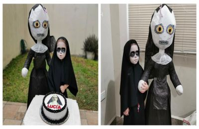 Wednesday Addams is real! Three-year-old had 'Conjuring's The Nun' themed birthday, and netizens are loving every bit of it