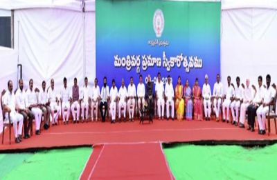 25 new ministers inducted into Jagan's Cabinet in Andhra Pradesh