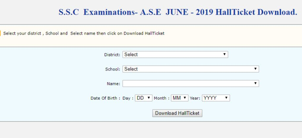 TS SSC Advanced Supplementary Exam 2019 to begin from June 10
