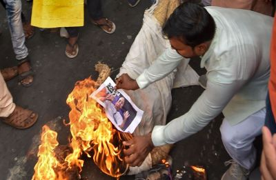 Amid BJP-Trinamool war of words, police stop hearses carrying slain workers' bodies