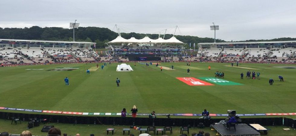 The South Africa vs West Indies clash in Southampton was abandoned due to rain. (Image credit: Twitter)