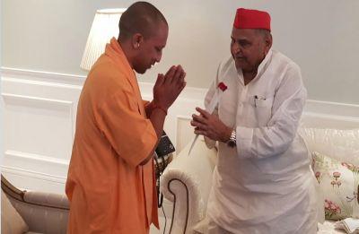 Yogi Adityanath visits 'ailing' Mulayam Singh Yadav at his residence, enquires about health