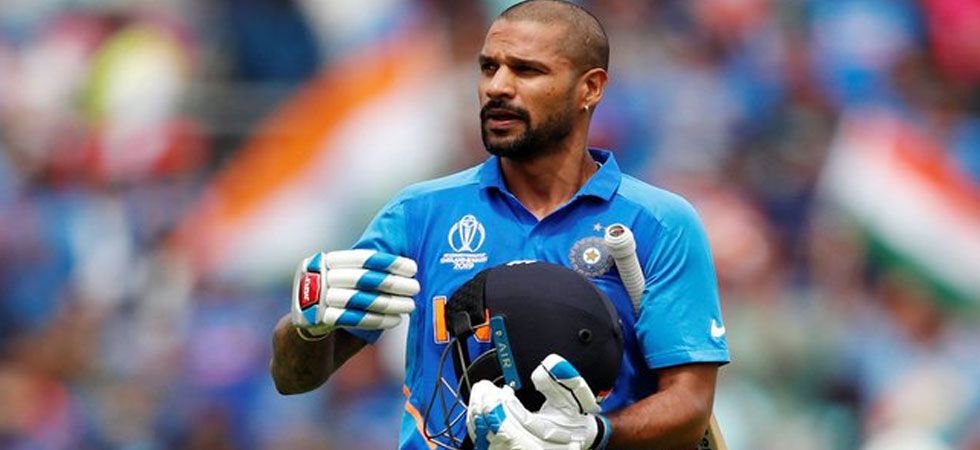 Shikhar Dhawan has been ruled out of the World Cup for three weeks due to thumb fracture. (Photo: Twitter/@SDhawan25)