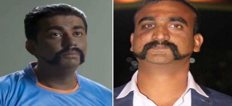 Screenshot from video posted on Twitter (left) and file photo of Abhinandan Varthaman (right).