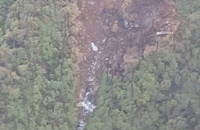 First image of IAF's AN-32 aircraft crash site shows wreckage, charred trees