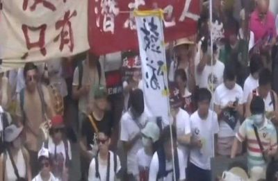 Thousands take out protest march in Hong Kong against China extradition bill
