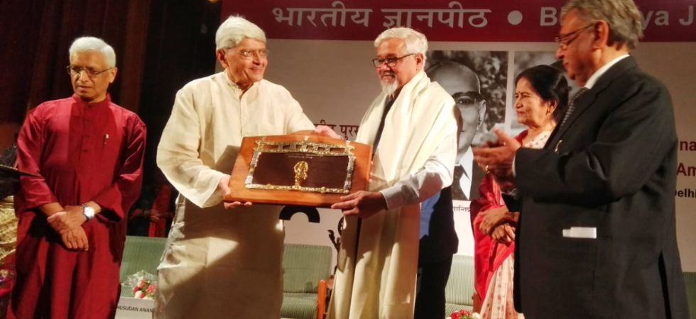 Noted author Amitav Ghosh honoured with 54th Jnanipath Award./ Image: All India Radio News