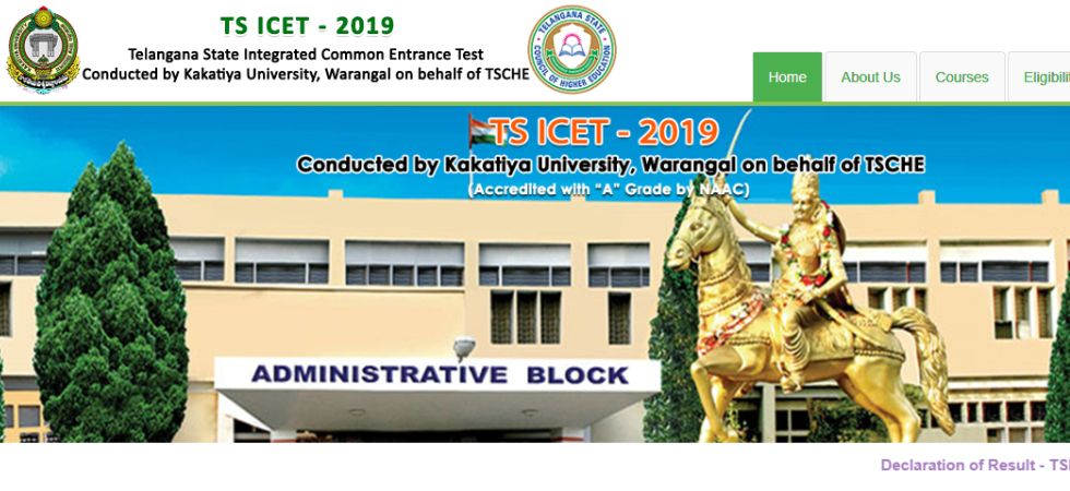 TS ICET Results 2019.