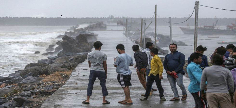 Strong winds and waves hit shoreline in Veraval ahead of expected landfall of Cyclone Vayu (Photo Source: PTI)