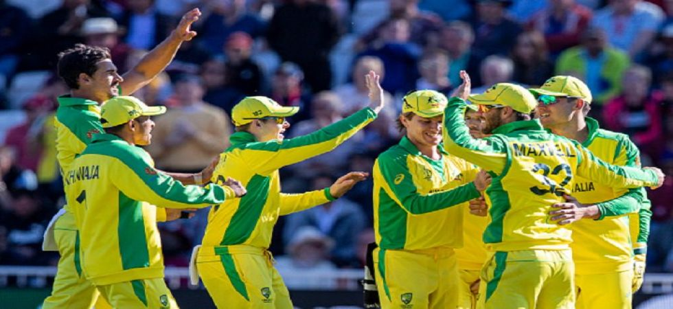 Australia celebrating a crucial wicket (Image Credit: Twitter)