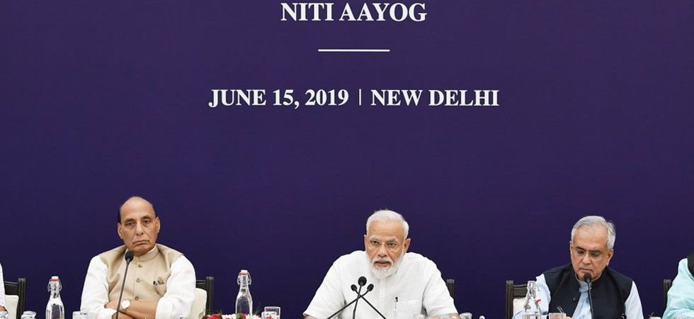 Prime Minister Narendra Modi chairs the 5th meeting of the Governing Council of NITI Aayog. (Image Credit: Twitter)