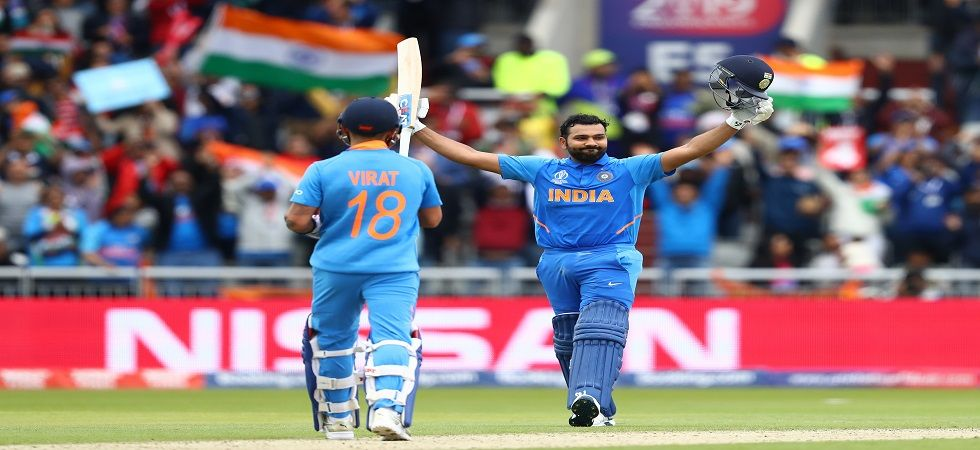 Rohit Sharma blasted three sixes and took his tally to 358 sixes as he overtook MS Dhoni's tally of 355 sixes overall. (Image credit: Getty Images)