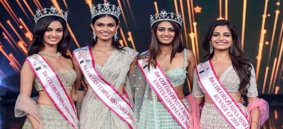Femina Miss India 2019 Winners Suman Rao, Shivaaani Jadhav, Shreya Shanker and Sanjana Vij (Photo Source: @feminamissindia)