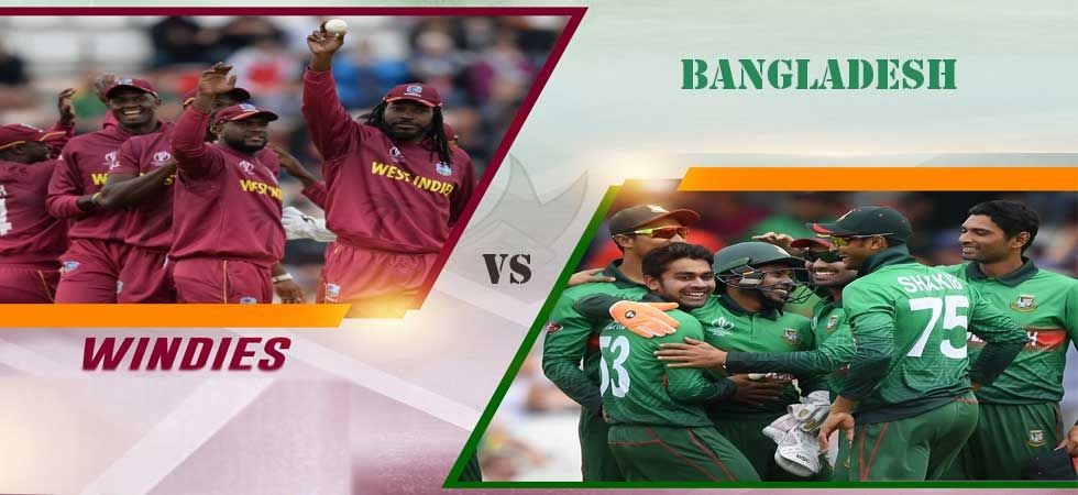 West Indies will take on Bangladesh at County Ground in Taunton on Monday.