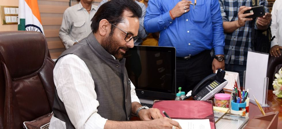 Hamari Sansad Sammelan: Mukhtar Abbas Naqvi also served as a BJP spokesperson and was one of the 11 vice-presidents appointed by party chief Amit Shah in 2014. (IANS photo)