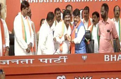 Trinamool MLA Biswajit Das, Congress spokesperson Prasanjeet Ghosh join BJP