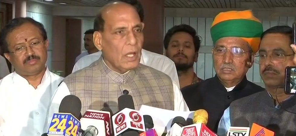 Rajnath Singh said that the committee will give its suggestions on the subject in a time-bound manner. (Image Credit: ANI)