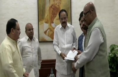 Inspired by 'impeccable leadership' of PM Modi, 4 TDP MPs pass resolution to merge with BJP