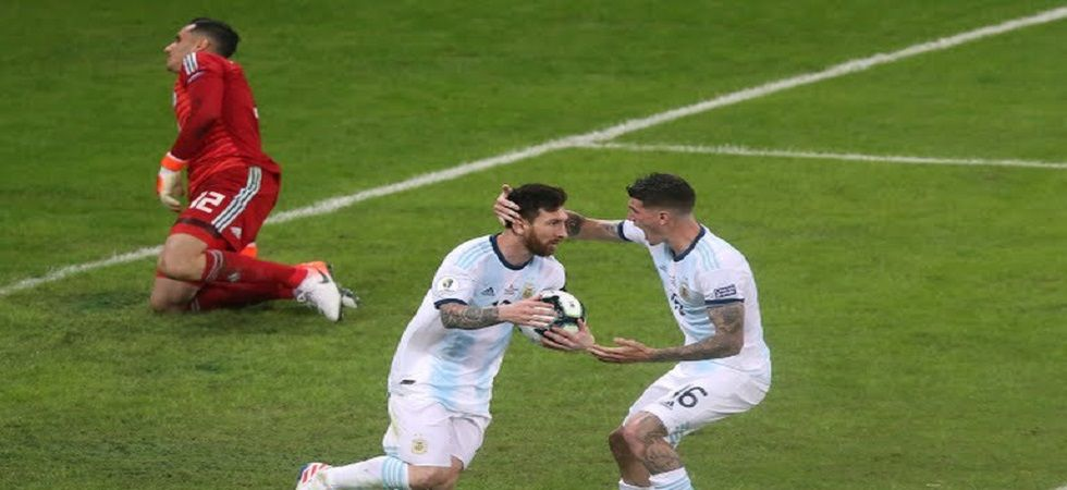 Lionel Messi scored for Argentina and Franco Armani saved a goal as they escaped with a 1-1 draw against Paraguay in the Copa America football tournament. (Image credit: Twitter)