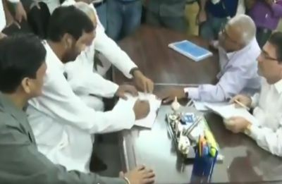 Union Minister Ram Villas Paswan files nomination for Rajya Sabha seat from Bihar