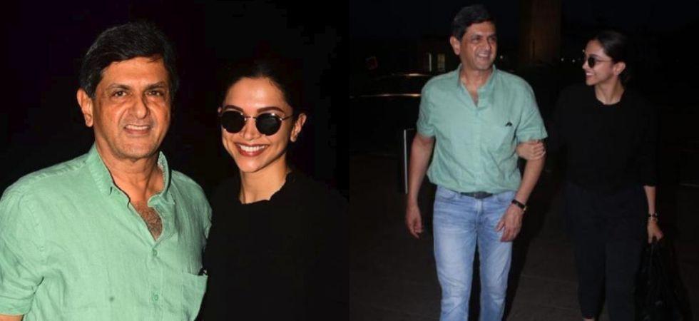 Deepika Padukone with father Prakash Padukone at the airport./ Image: Instagram