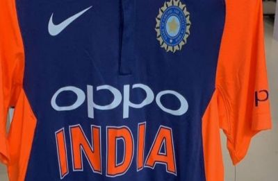 Is this how team India's new orange jersey for World Cup will look like?