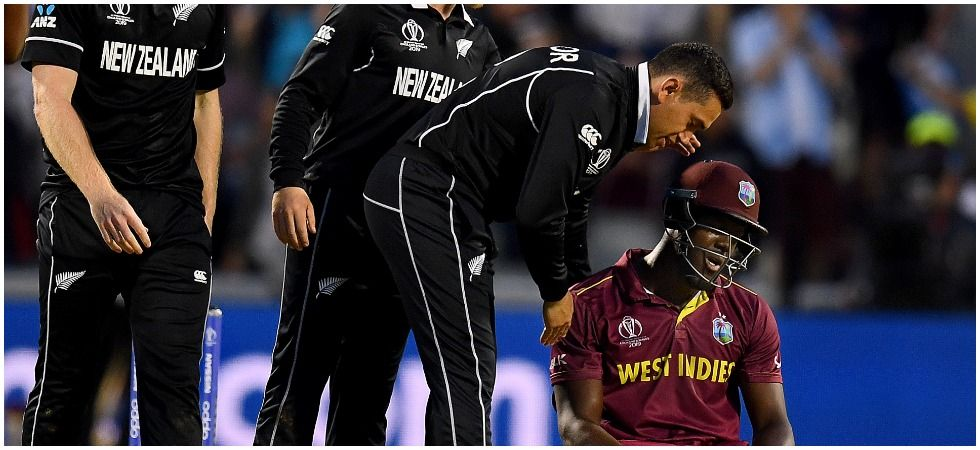 Carlos Brathwaite blasted his maiden century but New Zealand continued their unbeaten run in the ICC Cricket World Cup 2019 with a five-run win. (Image Credit: Getty Images)