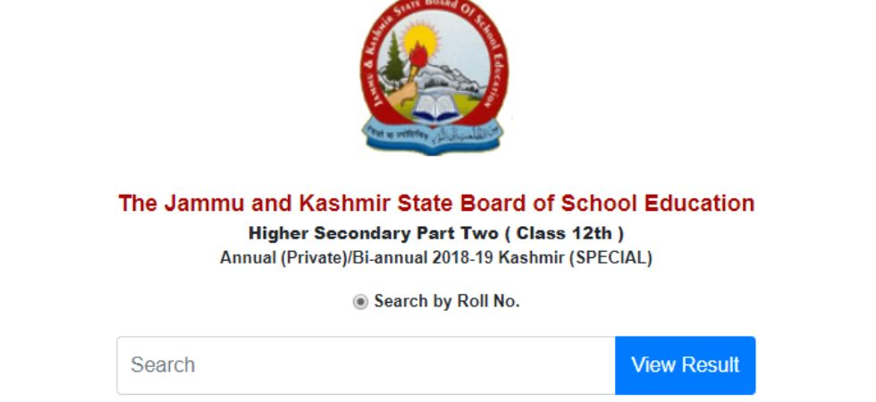 JKBOSE 12th Result 2019.