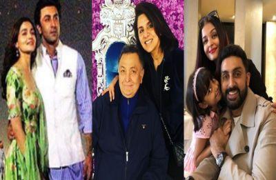 Ranbir Kapoor-Alia Bhatt reunite with Rishi-Neetu; Abhishek-Aishwarya join celebrations