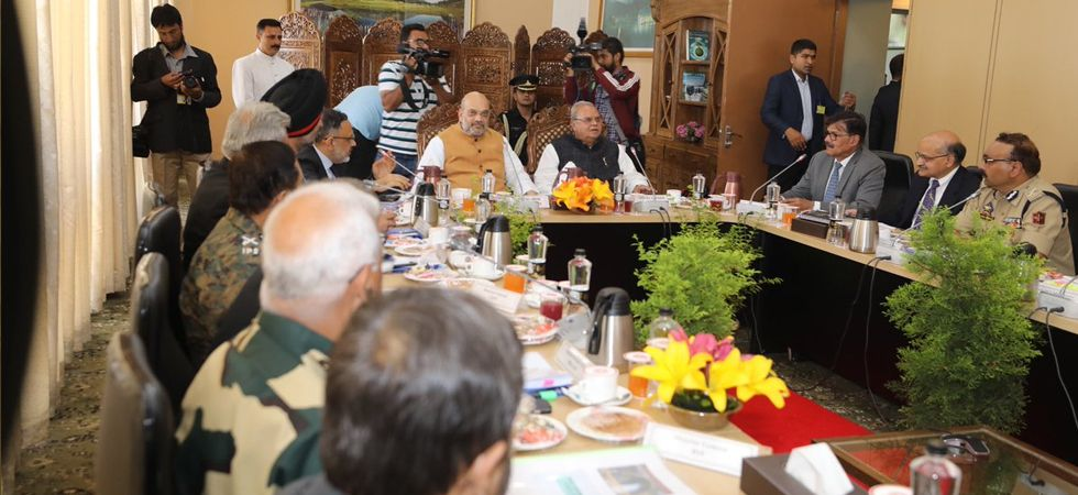 Amit Shah chaired a meeting in Srinagar to review the security arrangements for the holy Amarnath Yatra