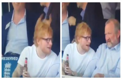 Ed Sheeran drinks Indian beer 'Bira 91' during England vs Australia ICC World Cup match, and we are saying high-five