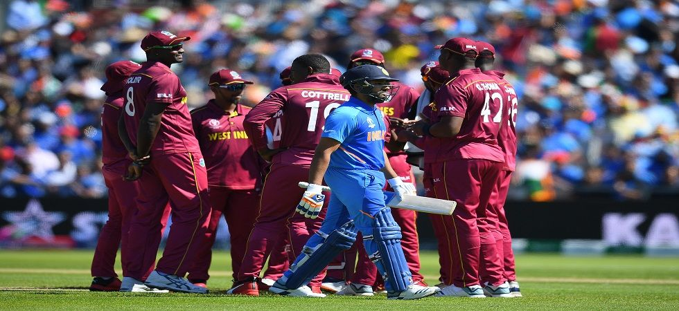 Rohit Sharma gets out on 18 against West Indies at Old Trafford (Image Credit: Twitter)