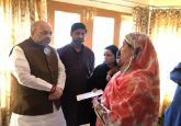 Amit Shah meets family of J-K police inspector Arshad Khan killed in Anantnag terror attack