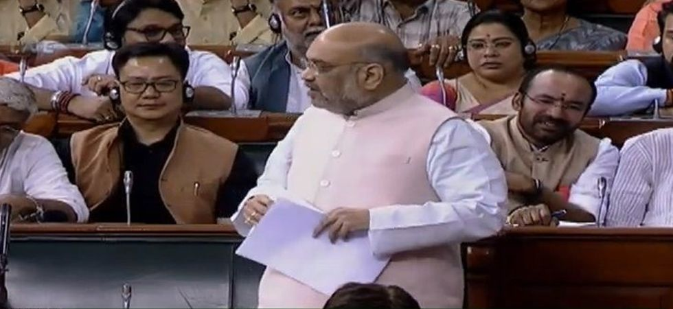 Amit Shah said people speak against India in Jammu and Kashmir to get security cover. (Image Credit: ANI)