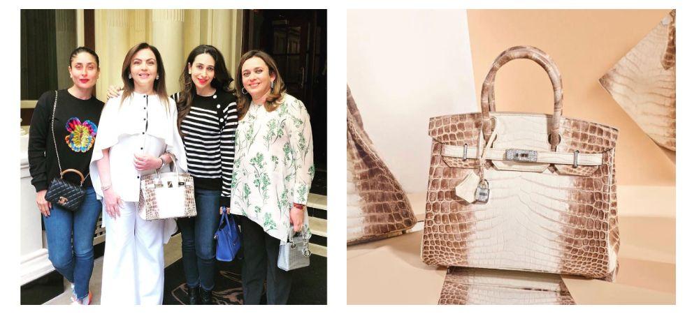 Nita Ambani flaunts Hermès Birkin handbag with diamond details (Photo: Instagram)