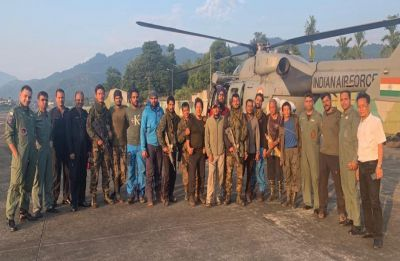 IAF airlifts stranded rescue team from AN-32 crash site in Arunachal Pradesh