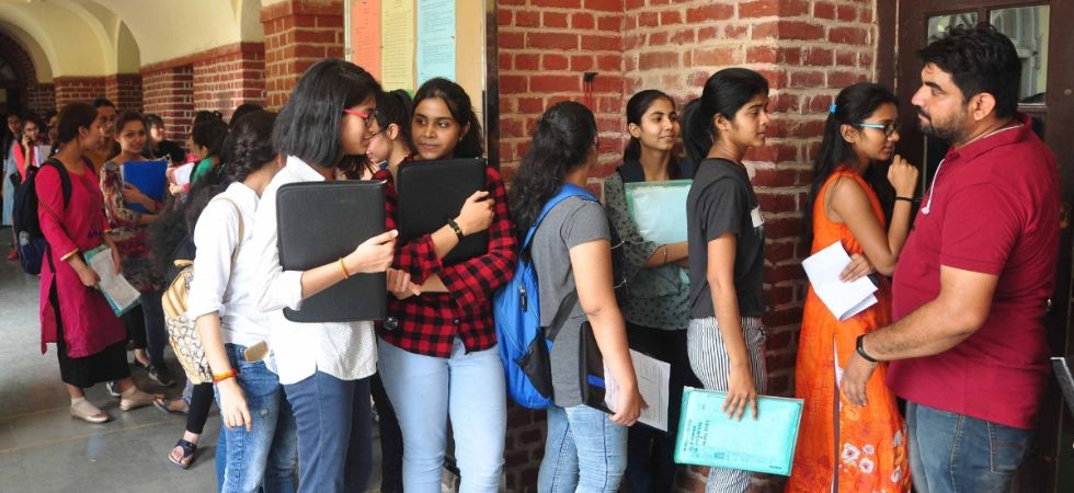 Aspirants queue up at DU's SRCC for admissions after first cut-off list releases for admissions