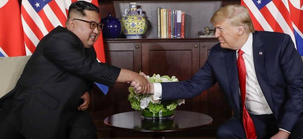 Trump and Kim's first meeting in Singapore last year took place in a blaze of publicity -- the first-ever encounter between a leader of the nuclear-armed North and a sitting US president. (File Photo)