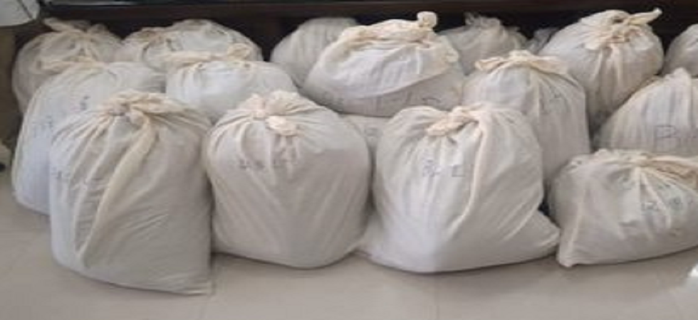 532 kg heroin, worth at Rs 2700 crore, smuggled from Pakistan seized at Attari. (ANI/Twitter